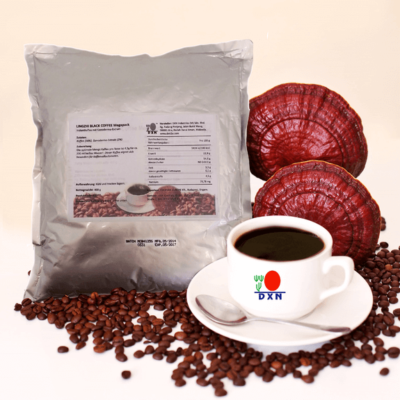 DXN Lingzhi Café Negro (café negro con ganoderma) (megapack 400g)